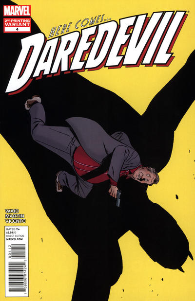 Cover for Daredevil (Marvel, 2011 series) #4 [Second Printing Variant Cover by Marcos Martin]
