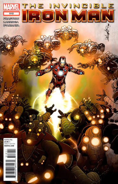 Cover for Invincible Iron Man (2008 series) #512 [Direct Market Venom Variant Cover by Larry Stroman]