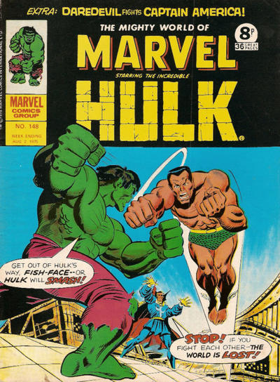 Cover for The Mighty World of Marvel (Marvel UK, 1972 series) #148