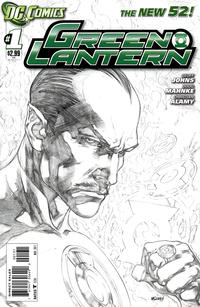 Cover Thumbnail for Green Lantern (DC, 2011 series) #1 [Ivan Reis Sketch Cover Variant]