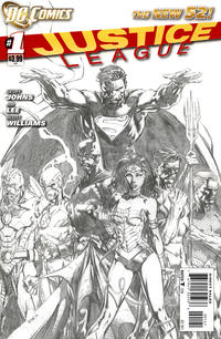 Cover Thumbnail for Justice League (DC, 2011 series) #1 [David Finch Sketch Variant Cover]