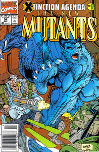 Cover for The New Mutants (Marvel, 1983 series) #96 [Direct Edition]