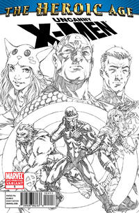Cover Thumbnail for Uncanny X-Men: The Heroic Age (HA) (Marvel, 2010 series) #1 [Second Printing Cover]