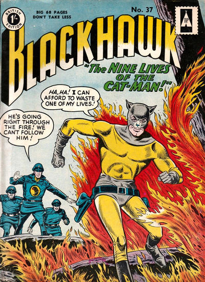 Cover for Blackhawk (Thorpe & Porter, 1956 series) #37
