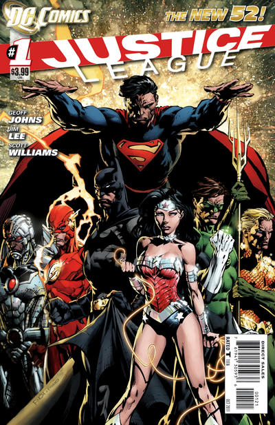 Cover for Justice League (DC, 2011 series) #1