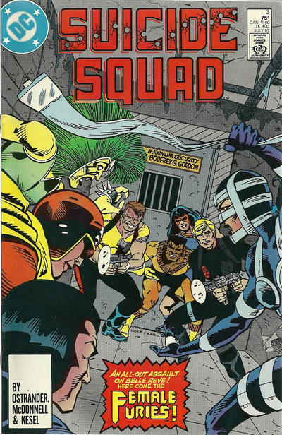 Cover for Suicide Squad (DC, 1987 series) #3 [Direct Edition]