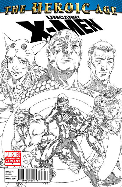 Cover for Uncanny X-Men: The Heroic Age (HA) (Marvel, 2010 series) #1 [Second Printing Cover]