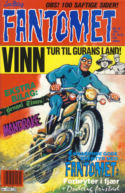 Cover for Fantomet (Semic, 1976 series) #20/1991