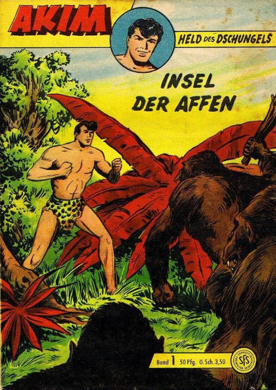 Cover for Akim Held des Dschungels (Lehning, 1958 series) #1