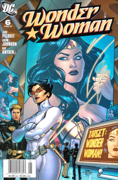 Cover for Wonder Woman (DC, 2006 series) #6 [Newsstand Edition]