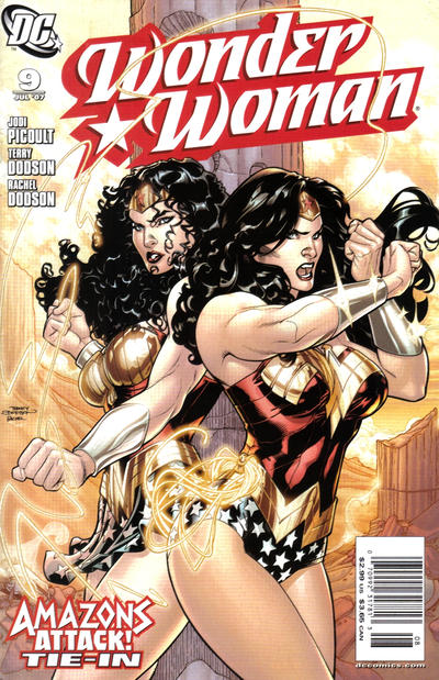 Cover for Wonder Woman (DC, 2006 series) #9 [Newsstand Edition]
