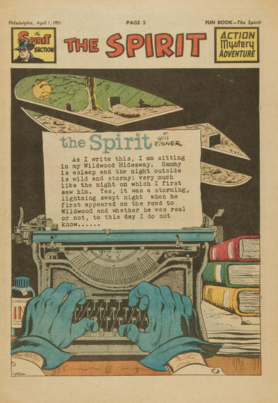 Cover for The Spirit (Register and Tribune Syndicate, 1940 series) #4/1/1951