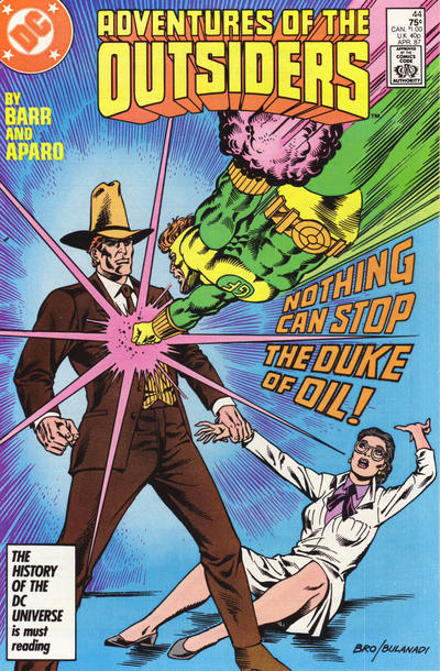 Cover for Adventures of the Outsiders (DC, 1986 series) #44 [Newsstand]