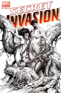 Cover Thumbnail for Secret Invasion (Marvel, 2008 series) #4 [Steve McNiven Limited Sketch Cover]