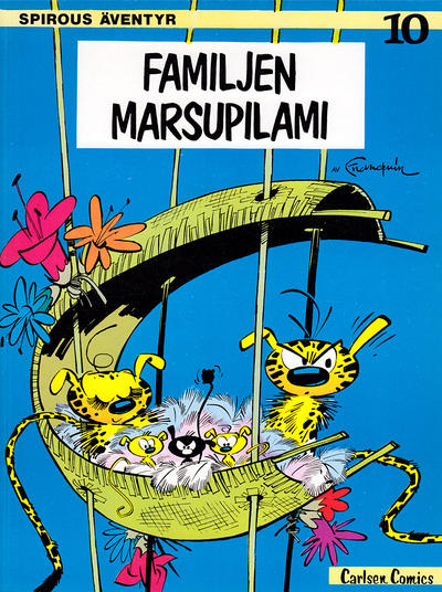 Cover for Spirous äventyr (Carlsen/if [SE], 1974 series) #10 - Familjen Marsupilami