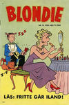 Cover for Blondie (Åhlén & Åkerlunds, 1956 series) #14/1958