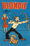 Cover for Blondie (Åhlén & Åkerlunds, 1956 series) #22/1959