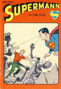Cover Thumbnail for Supermann (Serieforlaget / Se-Bladene / Stabenfeldt, 1966 series) #3/1966