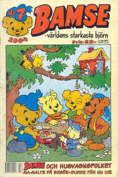 Cover for Bamse (Egmont, 1997 series) #7/2004