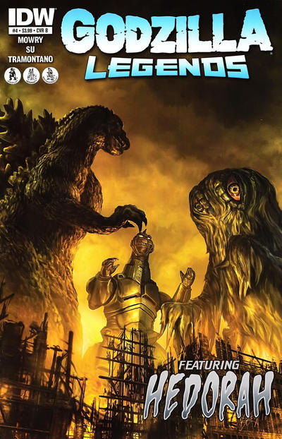 Cover for Godzilla Legends (IDW, 2011 series) #4 [Cover B by Chris Scalf]