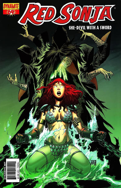 Cover for Red Sonja (Dynamite Entertainment, 2005 series) #64 [Cover A Walter Geovani]