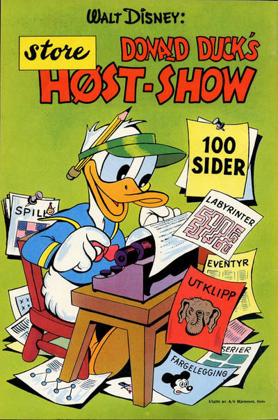 Cover for Donald Duck's Show (Hjemmet, 1957 series) #[3] - Høst-show [1958]