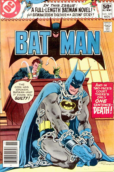 Cover for Batman (DC, 1940 series) #329