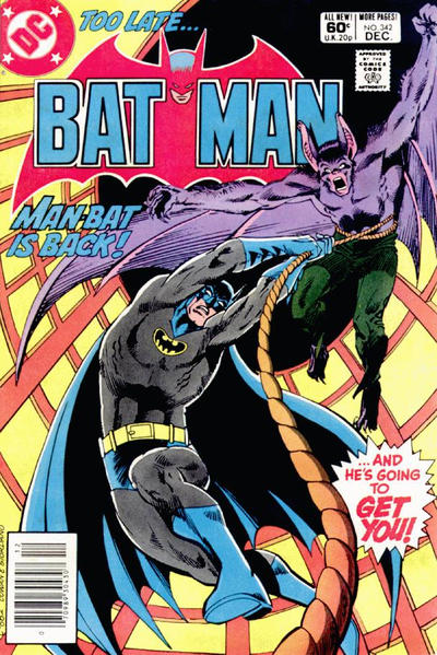 Cover for Batman (DC, 1940 series) #342 [Newsstand]