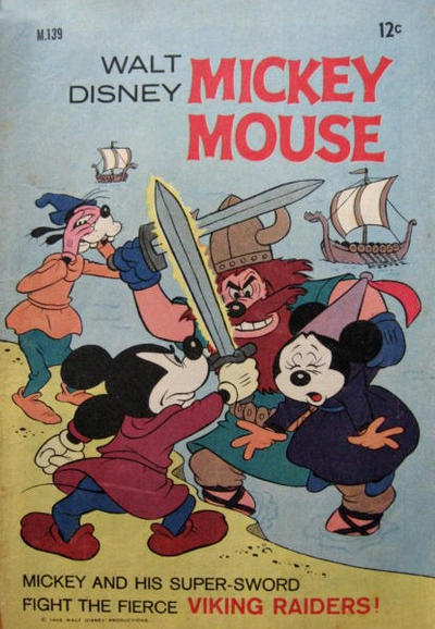 Cover for Walt Disney's Mickey Mouse (W. G. Publications; Wogan Publications, 1956 series) #139