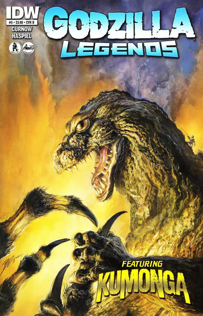 Cover for Godzilla Legends (IDW, 2011 series) #5 [Regular Bob Eggleton Cover]
