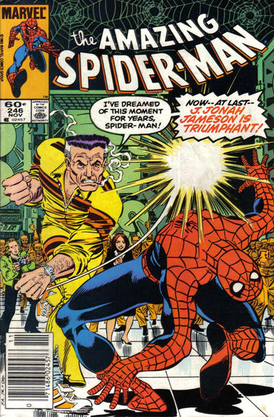 Cover for The Amazing Spider-Man (Marvel, 1963 series) #246 [Newsstand Edition]