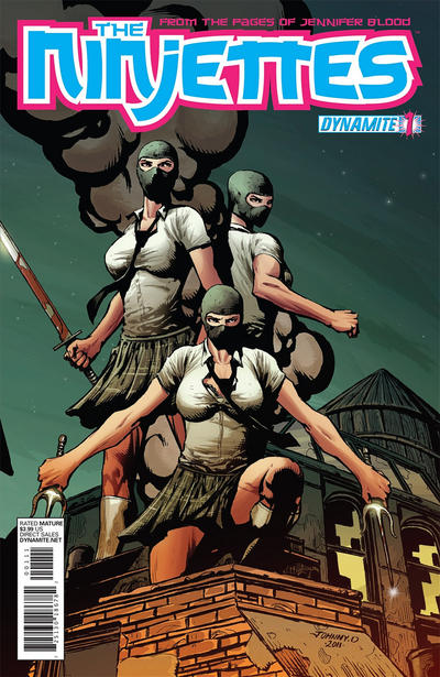 Cover for The Ninjettes (Dynamite Entertainment, 2012 series) #1