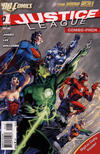 Cover for Justice League (DC, 2011 series) #1 [Third Printing Combo Pack Variant]