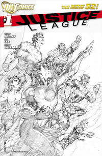 Cover Thumbnail for Justice League (DC, 2011 series) #1 [Sixth Printing - Jim Lee Sketch Cover]