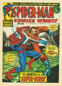 Cover Thumbnail for Spider-Man Comics Weekly (Marvel UK, 1973 series) #36