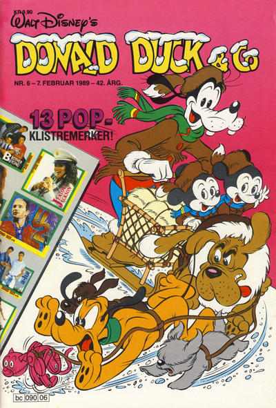 Cover for Donald Duck & Co (Hjemmet, 1948 series) #6/1989