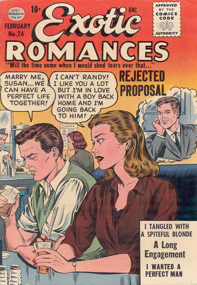 Cover for Exotic Romances (Quality Comics, 1955 series) #26