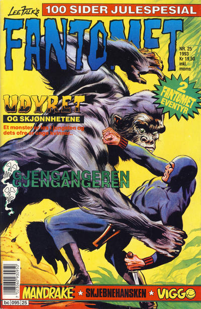 Cover for Fantomet (Semic, 1976 series) #25/1993