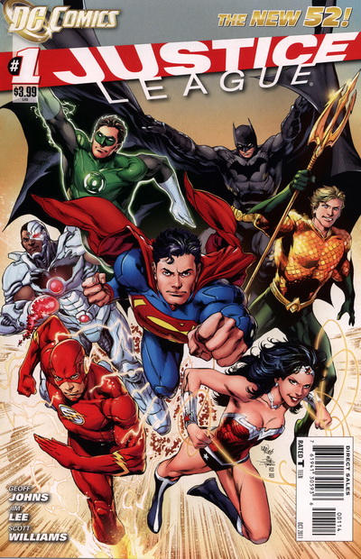 Cover for Justice League (DC, 2011 series) #1 [Sixth Printing - Jim Lee Sketch Cover]