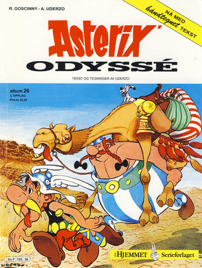 Cover for Asterix (Hjemmet, 1969 series) #26 - Asterix' odyssé [2. opplag]