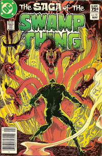 Cover for The Saga of Swamp Thing (DC, 1982 series) #13 [Newsstand]