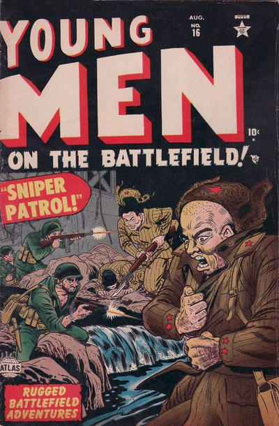 Cover for Young Men on the Battlefield (1952 series) #16