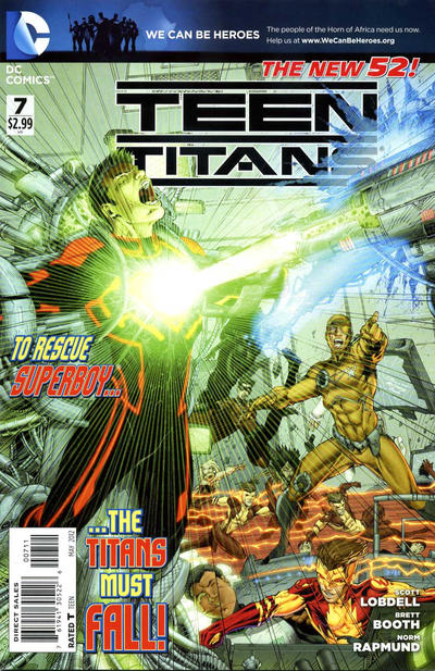 Cover for Teen Titans (DC, 2011 series) #7