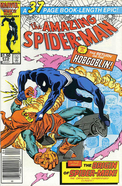 Cover for The Amazing Spider-Man (Marvel, 1963 series) #275 [Newsstand Edition]