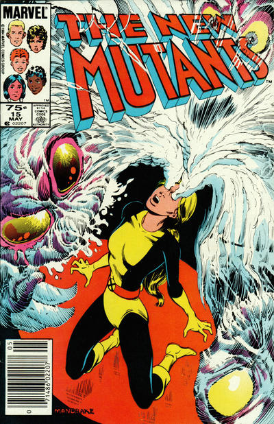 Cover for The New Mutants (1983 series) #15 [Direct Edition]