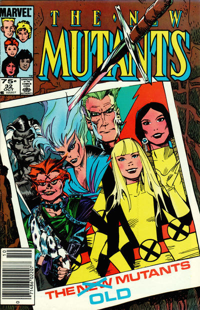 Cover for The New Mutants (1983 series) #32 [Canadian variant]