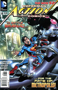 Cover for Action Comics (2011 series) #8