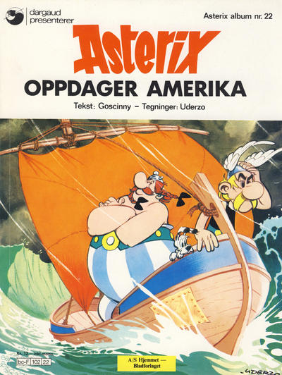 Cover for Asterix (1969 series) #22 - Asterix oppdager Amerika [3. opplag]