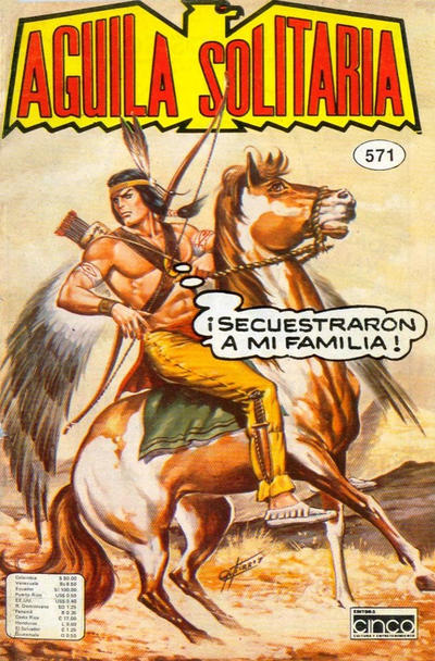 Cover for Aguila Solitaria (Editora Cinco, 1976 ? series) #571