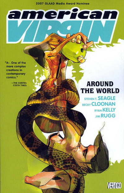 Cover for American Virgin (DC, 2006 series) #4 - Around the World